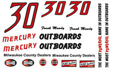 #30 Frank Mundy Mercury Outboards '55-56 Chrysler 300 1/32nd Slot Car Decals