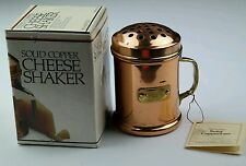 VINTAGE COPPER AND BRASS METAL GRATED PARMESAN CHEESE SHAKER