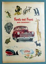 Original 1946 Ford Super Deluxe Ad  FORD'S OUT FRONT WITH EVERYBODY