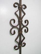 """45"""" SOLID IRON DOUBLE DIAMOND SCROLL BALUSTER STAIR RAIL ANTIQUE BRASS***NEW***"""