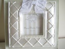 "Pearl Wedding Tabletop Picture Photo Frame Luxury Decor Gift 6"" sqaure NEW gift"