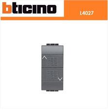 COMMUTATORE 16A DOPPIO TASTO 1-0-2 230V LIVING LIGHT ANTRACITE BTICINO L4027