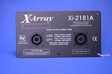 Electro-Voice X-Array Xi-2181A Dual 18-Inch Subwoofer Panel w/ Parallel Neutrik