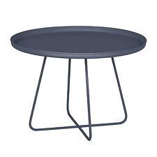 Design Métal Table basse gris foncé rond 65cm Rétro de salle à manger d'appoint