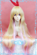 Beautiful Wig! Nisekoi Kirisaki Chitoge Gradual Change Cosplay Party Hair Wig