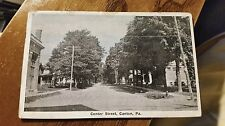 "Postcard Of "" Center Street Canton Pa. "" Posted 1922"
