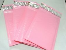 20 Pastel Pink 4x8 Bubble Mailers, Quality Pink Padded Shipping Mailing Envelope