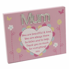 Mum Plaque with Stand Lovely Mirror Words & Verse by Juliana Mother's Day Gift