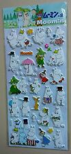 Moomin and friends Spring Flowers Kawaii Puffy Stickers Sticker Sheet Stationery