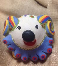 Tiny Clay Whistle Ocarina Signed T 92 Unique Two-faced Ram/dog Perfect Mexico??
