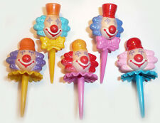 Clown Cupcake Picks Ruffles and Bowties Cake Toppers Circus Parade 24