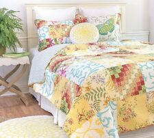 ALESE ** King ** QUILT SET : CHIC VINTAGE COUNTRY GARDEN COTTAGE PATCH FLORAL