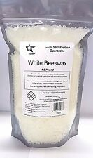 100% Organic White Beeswax 1 Lb Pastilles/Pearls- All Natural 9987
