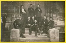 "cpa Carte Photo MILITAIRES "" SAINT CYR ? "" SOLDATS en UNIFORMES Promo 1875"