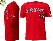 Boston Red Sox David Ortiz Big Papi Jersey T-Shirt Men Size S-XL