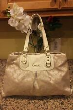 Coach-F15510-Ashley-Khaki-patent leather -Satchel-Carryal (pu1300