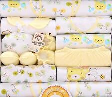 18pcs/Lot Yellow Rabbits Newborn Baby Clothing set Cotton Spring Fall Outfits