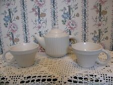 Harbor East White Teapot & 2 Tea Cups~Let Us Entertain You~Tea For 2~China