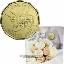 Canada 2017 Wedding 5 Coin Mint Gift Set w Special Rose Hearts & Rings Loonie $1