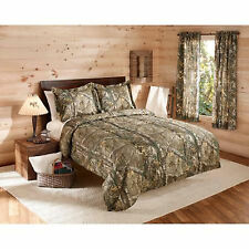 Bedding Set Queen Comforter & Sham Camouflage Bed In a Bag Realtree Green Camo
