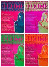lot 4 affiches James bond,Bonditis,pop art culture,movies poster,originale 1968