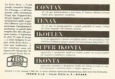 Y2465 Zeiss Ikon - TENAX - Pubblicità del 1942 - Old advertising