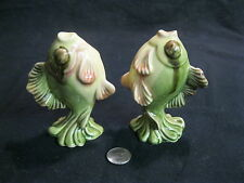 Vintage Fish Up On Tails Salt and Pepper Shakers Ceramic Arts Studio    51