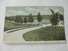 1911 Lapeer, Michigan Postcard, Grounds at Home for Feeble Minded