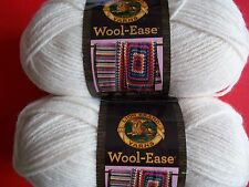 Lion Brand Wool-Ease wool blend yarn, Fisherman, lot of 2 (197 yds each)