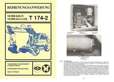 Bedienungsanweisung Handbuch Bagger Mobilkran T174-2 DDR VEB NVA kein T157