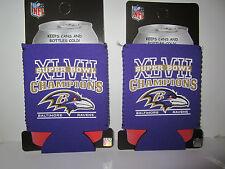 2 Nfl Baltimore Ravens Super Bowl Champions Koozie Coozie Koolie Coolie Cooler