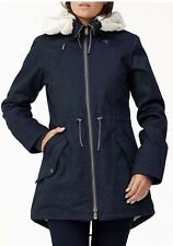 BN Stunning Ladies HEMP HOODLAMB Parka Coat M UK 12 RRP £300