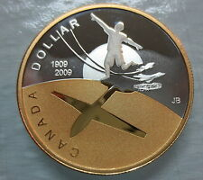 2009 CANADA 100th ANNIVERSARY OF FLIGHT IN CANADA PROOF SILVER DOLLAR COIN - A