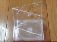 25 Maxi Single CD Jewel Case 5.2mm Slim Clear Tray New Empty Replacement HQ AAA