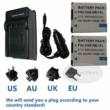 2X Battery &charger for Canon NB-11L IXUS 132 140 245 240 125 HS NB11L