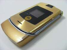 Original Motorola Razor V3i Unlocked D&G Version Gold Mobile Phone Bundle