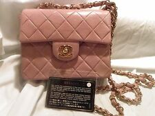 Chanel  Lavendar  Lambskin Leather Mini Flap Bag