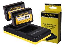 2 x Patona-Akku + Doppel-, Dual-Ladegerät Sony ILCE-6300, Alpha 6300 - NP-FW50
