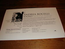 ANDREA BOCELLI SOGNO!!!!!!!!!!!!!!RARE FRENCH PRESS/KIT