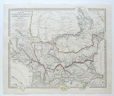 SDUK MAP MACEDONIA THRACIA ILLYRIA MOESIA DACIA ANCIENT 1830 PUBLISHED 1844