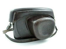 VINTAGE LEICA M BROWN LEATHER CAMERA CASE WITH STRAP