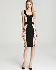 Black Halo Dress - Annabelle Printed Panel Womens Size 2