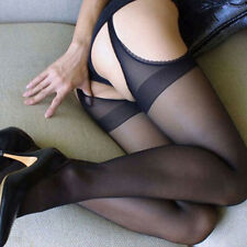 Sexy Lingerie Sheer Suspender Pantyhose Hosiery Open Crotch Crotchless Stockings