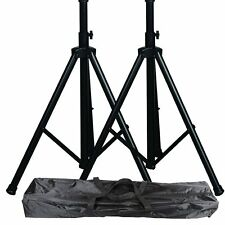 Speaker stands pair pro audio DJ carrying bag tripod adjustable height