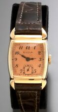 Vintage Bulova Wrist Watch with Rose Dial 17-Jewel Manual-Wind from the 1950s