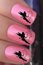 WATER NAIL TRANSFERS TINKERBELL FAIRY FLYING DUST TATTOO DECALS STICKERS *646
