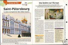 Saint-Pétersbourg Saint Petersburg Санкт-Петербург Russie Russia Россия  FICHE