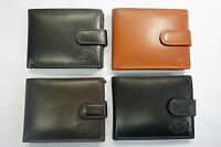 High Quality Luxury Mens Soft Leather Wallet with Back Zip and Coin Pocket