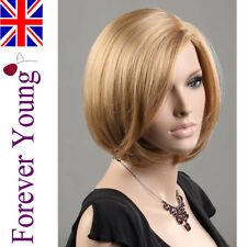 Ladies Short Wig Blonde Fashion Wig Hair 2 Tone Golden & Ash Blonde Mix