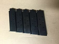 1911 mag,magazine, mags 5 BLUE Steel , 7 shot, USA, NEW  .45 cal. Military style